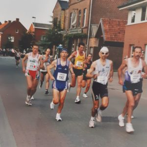 Durant la course