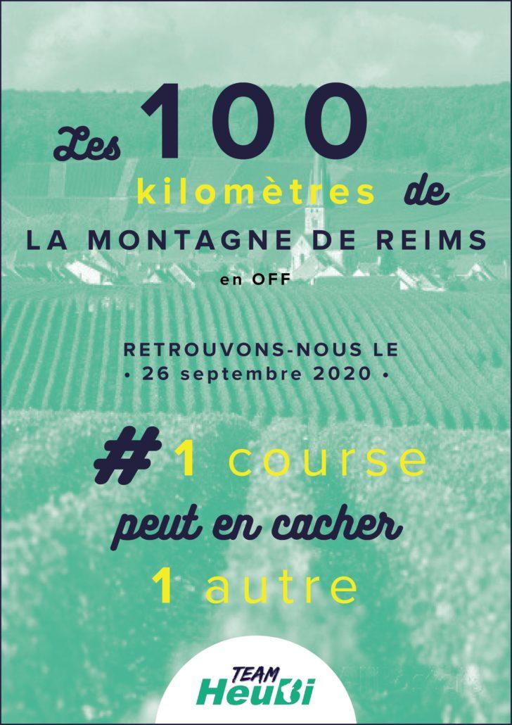 L'affiche du 100km de ma Montagne de Reims 2020